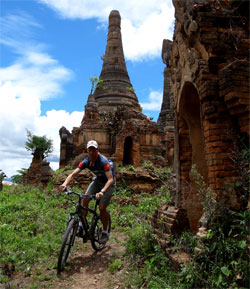 Bicycling Inle Lake, Myanmar