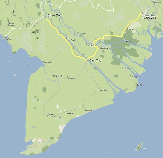 Veloasia Cycling Tours Mekong Delta Bike Tour Map