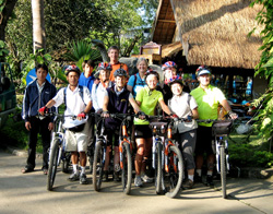 Bicycle Tour Group Laos