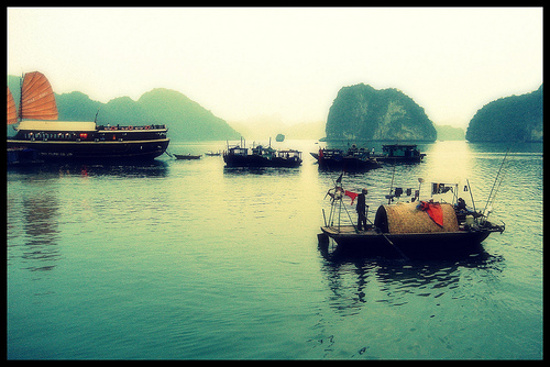 Misty on Halong Bay